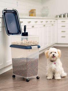Pet Food Storage Food Storage Organization, Pet Food Storage, Stuffed Animal Storage, Best Pet Hair Vacuum, Pet Vacuum, Cleaning Hacks, Cleaning Supplies, Pet Fresh, Pet Shed