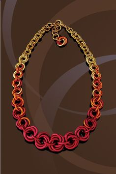 Handmade Chainmaille Jewelry by Rebeca Mojica | HOME. Not a fan of the colors but the design is wonderful Jump Ring Jewelry, Wire Jewelry, Jewelry Crafts, Beaded Jewelry, Jewelry 2014, Silver Jewelry, Wire Earrings, Jewellery, Do It Yourself Jewelry