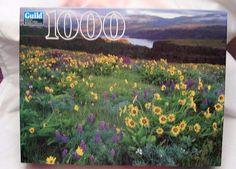 Guild Hasbro 1000 Pc Puzzle Columbia River Gorge National Scenic Area Sealed USA #Guild