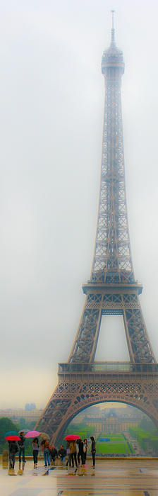 Eiffel Tower in the Rain ... Would love to see Paris in all the seasons.