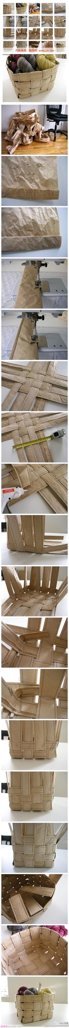 Paper: Craft Paper Basket DIY 废物 旧物 利用 储物框