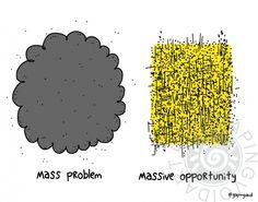 Mass Problem >> Massive Opportunity | gapingvoid art