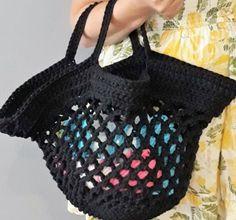 Siatka na zakupy ze sznurka Bra, Tote Bag, Crochet, Etsy, Fashion, Moda, Fashion Styles, Bra Tops, Totes