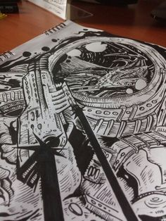 #draw #astronaut #blackand white #wallpaper