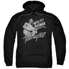 Ted Nugent - Motor City Madman - Adult Hoodie Fleece Sweatshirt - http://bandshirts.org/product/ted-nugent-motor-city-madman-adult-hoodie-fleece-sweatshirt/