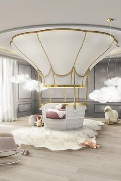 Discover the ultimate crib for a nursery room: the Fantasy Air Balloon! This magical kids bed is the perfect choice for those who want an incredible and unique room decor.
