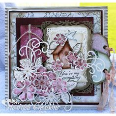 Heartfelt Creations - Pink And White Blooms Project
