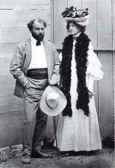 Emilie Flöge con Gustav