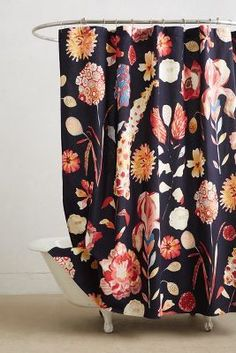 floral print shower curtain #anthrofave