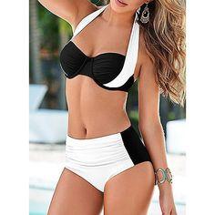 Low Waist Halter Sexy Bikinis Swimsuits Halter Bikini, Push Up Bikini, Bikini Swimwear, Sexy Bikini, Bikini Babes, Daily Bikini, Women Bikini, Bikini Top, Plus Size Swimwear