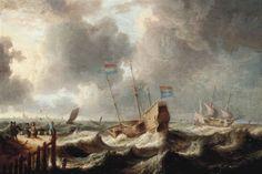 Expédition dans les eaux agitées by Bonaventura Peeters the Elder
