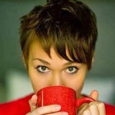Pixie and coffee