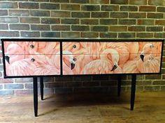 Upcycled-Avalon-Flamingo-Dressing-Table-Sideboard