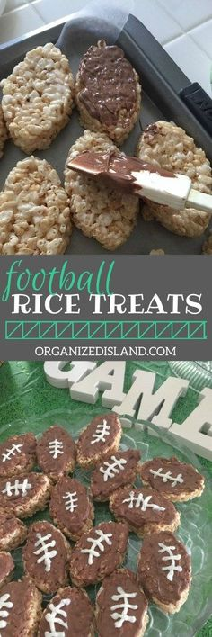 Need a quick tailgating recipe? These popular rice treats will go fast at your next football party! Need a quick tailgating recipe? These popular rice treats will go fast at your next football party! Superbowl Desserts, Tailgating Recipes, Tailgate Desserts, Easy Tailgate Food, Tailgate Decorations, Football Recipes, Picnic Recipes, Picnic Ideas, Picnic Foods
