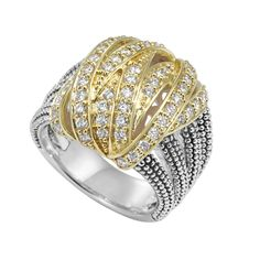 Diamond | Caviar Beaded Statement Ring | Embrace | LAGOS Jewelry