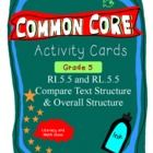 If you are making the transition to Common Core, these activity cards will be helpful.  At grade 5, the Common Core Standards wants students to com...