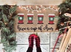 18 Easy Cricut Crafts That You Can Make and Sell for Cash Outdoor Christmas Decorations, Rustic Christmas, Christmas Crafts, Holiday Decor, Christmas Ideas, Christmas Time, Christmas Plates, Etsy Christmas, Holiday Ideas