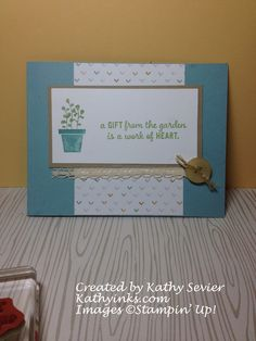 Stampin' Up! Gift From The Garden. KathyInks