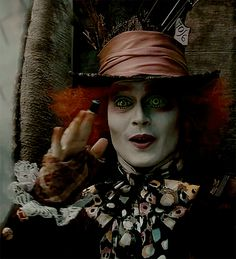 *MAD HATTER ~ Alice in Wonderland, 2010...I found myself in wonderland