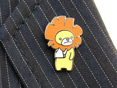 Broke Arm Lion Pin by Disablies on Etsy