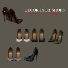 Decor Shoes at Leo Sims • Sims 4 Updates