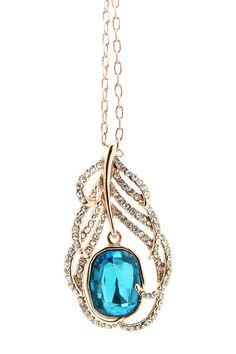 Crystal My Feather Pendant Necklace by Eye Candy Los Angeles on @HauteLook