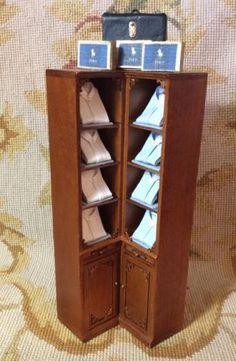 Shelf Cabinet Dressed 1:12 Dollhouse Miniature
