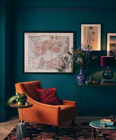 Lighting trends 2021 –the latest lighting designs and lighting | Homes & Gardens Burnt Orange Living Room, Modern Georgian, Victorian Decor, Room Colors, Paint Colors, Colours, Eclectic Decor, Home And Living, Room Inspiration