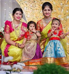 Baby Lehenga, Kids Lehenga, Kids Frocks, Frocks For Girls, Baby Girl Dresses, Baby Dress, Baby Outfits, South Indian Bride Jewellery, Kids Ethnic Wear