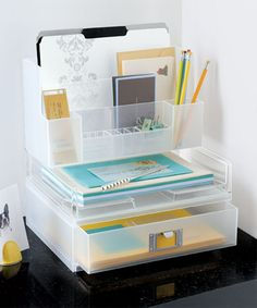 Tip | Create More Space On Your Desk | The Container Store