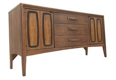 "Broyhill Emphasis Buffet Newly Refinished! 56"" W, 17"" D, 27.5"" T  ​$998"