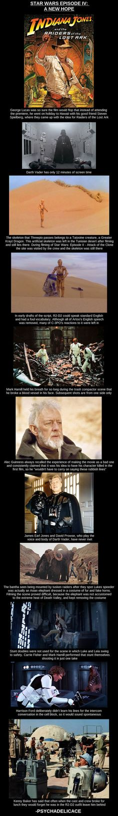Interesting Star Wars Episode IV: A New Hope Facts [Pic]