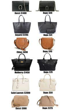 3561cf53af Fashion blogger Mash Elle shares the ULTIMATE designer bag dupe guide! Over  20+ of