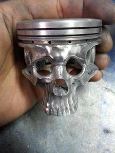 Piston Skull - Skullspiration.com - skull designs, art, fashion and more