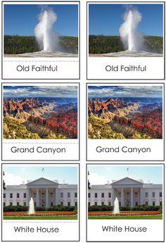 American Landmark Nomenclature Cards - free template!