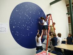 Constellation Murals: The Calvert Canvas: Adventures in Middle School Art!: 6th Grade