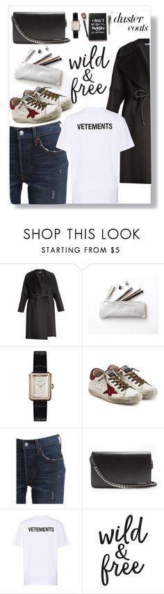 """""""013"""" by neverlovemonday ❤ liked on Polyvore featuring Sportmax, Chanel, Golden Goose, Levi's, Balenciaga, Vetements and DusterCoats"""