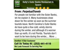 For people not familiar with the Outer Banks, let me explain it. Many businesses close...