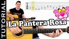 como tocar LA PANTERA ROSA en guitarra FACIL Principiantes y novatos acú...