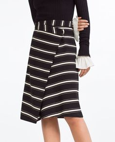 Image 3 of STRIPED WRAP SKIRT from Zara