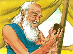 Free Bible illustrations at Free Bible images of the miraculous birth of Isaac to Abraham and Sarah and how God tested Abraham's faith. (Genesis 21:1-7, 22:1-19): Slide 5