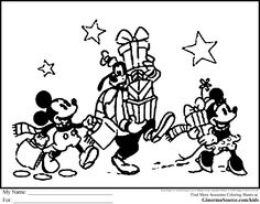 Disney Christmas Coloring Pages For Kids - http://fullcoloring.com/disney-christmas-coloring-pages-for-kids.html