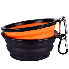 Mudder Collapsible Travel Silicone Dog Bowl Portable Pet Food Water Bowl, Set of…