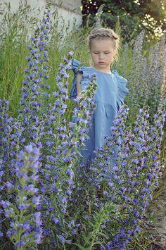 https://www.facebook.com/lillyrosekids/?ref=bookmarks https://www.etsy.com/shop/LillyRose2008?ref=seller-platform-mcnav https://www.instagram.com/lillyrose_kids/  Blue cotton dress.