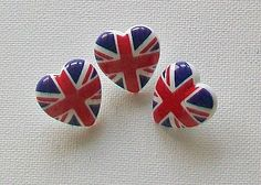 Heart Shaped Union Jack Buttons!