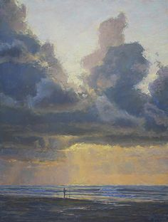 """Joseph Mancuso ~ """"The Tide And Tempest"""" ~ Pastel Art Painting Gallery, Art Gallery, Original Artwork, Original Paintings, Amazing Paintings, Pastel Paintings, Daily Painters, Sea Waves, Sky And Clouds"""