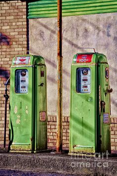 Vintage Gas Pumps Fine Art Prints and Posters for Sale