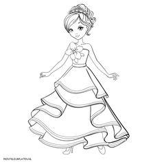 Princesa Jugando Mooie Kleurplaat Prinses Rapunzel