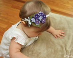 Items similar to Fall Bouquet of Felt Flowers on Elastic Headband on Etsy