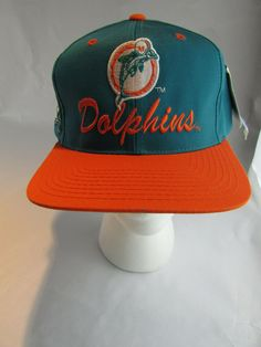 Details about Vtg MIAMI DOLPHINS Hat RARE TEAM NFL Throwback Snapback 90 s  LOGO 7 Cap f07200eb5